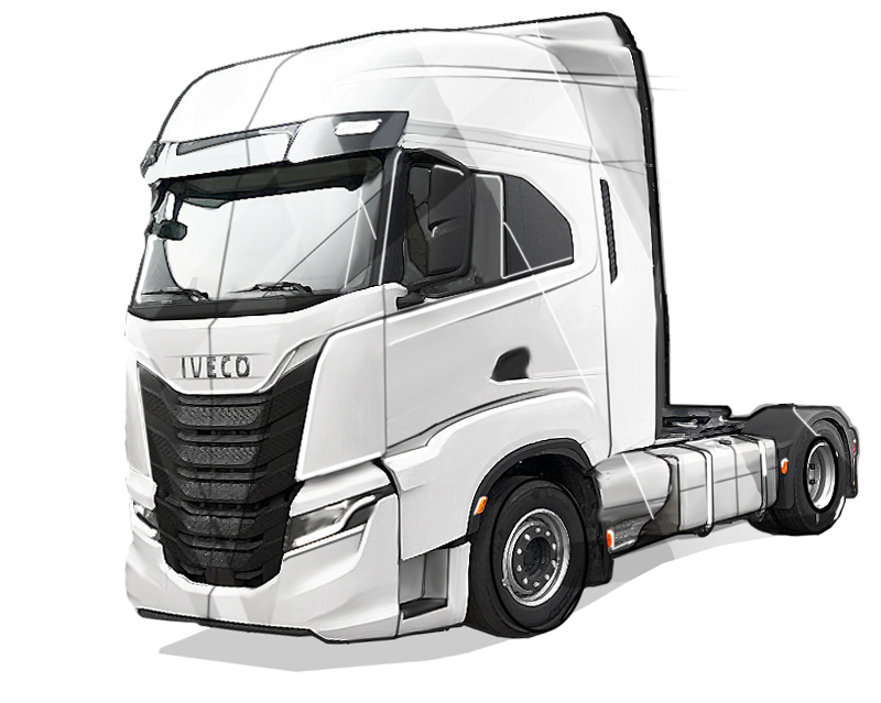 Berco - IVECO Truck ID Industrial Design Sketch Drawing