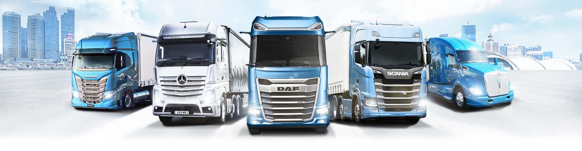 Berco Truck Components Trucks City skyline Customers DAF New generation IVECO Mercedes Scania Kenworth Peterbilt